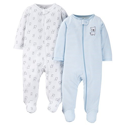 Just One You by Carters Baby Boys 2-Pack Footed Sleeper - Doggy (6 Months)