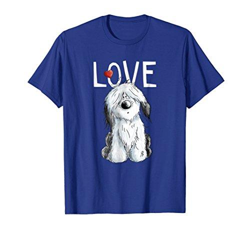 Old English Sheepdog Love T-Shirt I Dog Tee Bobtail Gift