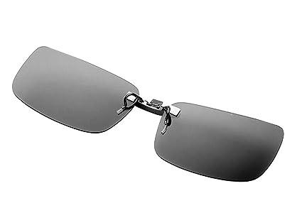 Skysper Gafas de Sol Polarizadas Clip Lentes de Espejo de Retro Vintaje Marco de Metal Hombre