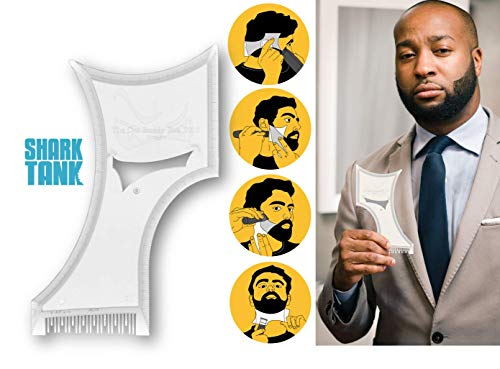 The Cut Buddy PLUS Edition - As Seen on Shark Tank - Larger New and Improved Hair and Beard Trimming Stencil Guide and Comb