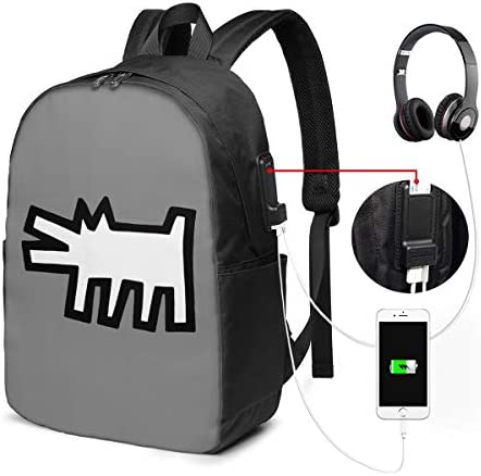 ビジネスリュック キースヘリング メンズバックパック 手提げ リュック バックパックリュック 通勤 出張 大容量 イヤホンポート USB充電ポート付き 防水 PC収納 通勤 出張 旅行 通学 男女兼用