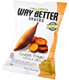 Way Better Snacks Tortilla Chips, Simply Sweet Potato, 1.25 Ounce (Pack of 24)