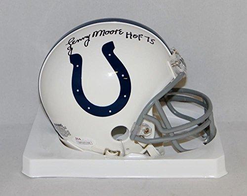 Lenny Moore Autographed Black Baltimore Colts Mini Helmet W/HOF- JSA W ()
