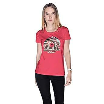 Creo Rome T-Shirt For Women - M, Pink