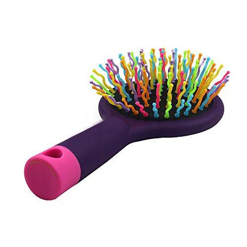 Romote Chef-étoile Rainbow Volume Anti-Statique Cheveux Magiques Curl Massage Droite Peigne Brosse Miroir