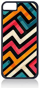 Abstract Geometric Shapes - Case for the Apple iphone 4s-Hard Black Plastic Outer Shell with Inner Soft Black Rubber Lining