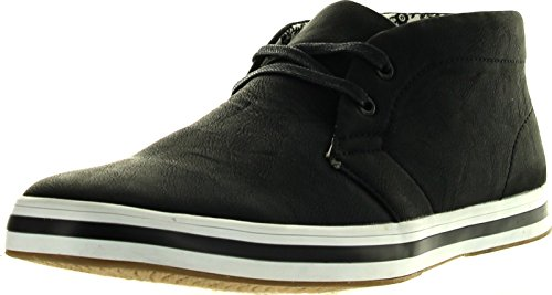 Arider Ar3061 Mens High-Top Casual Shoes,Black,8.5
