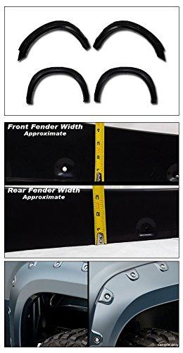 Black 8 Feet 96 Long Bed Topline Autopart Boss Pocket Rivet Bolt Style Fender Flares es For 10-18 Dodge Ram 2500//3500 6.4 Feet 76.8