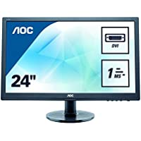 Aoc Monitors E2460SD TFT Active Matrix LED Monitor, 24 in.