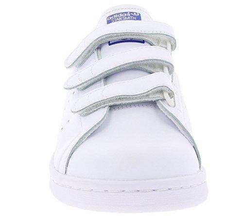adidas Herren Stan Smith CF Basketballschuhe Weiß Blau