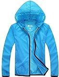 Z-SHOW Women's Super Lightweight Quick Dry Windbreaker Jacket-UV Protection (Blue,L)