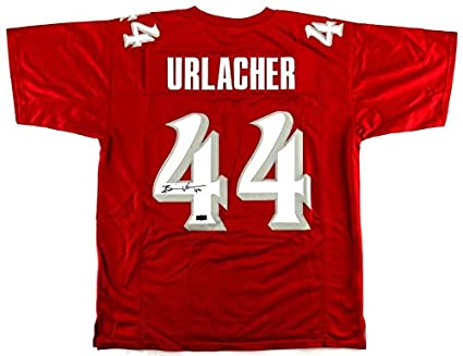 b989049b93d Image Unavailable. Image not available for. Color: Brian Urlacher Signed  Jersey - Custom Red - Autographed College Jerseys