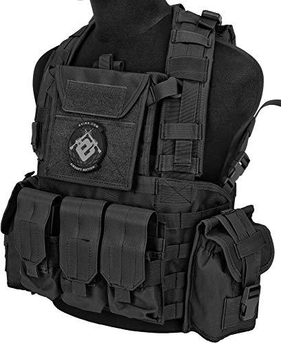 Evike Lancer Tactical CA307 Modular Chest Rig - Black