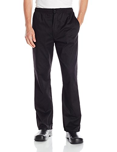 Chef Code Men's Basic Baggy Chef Pant with Zipper, Black, Medium by Chef Code