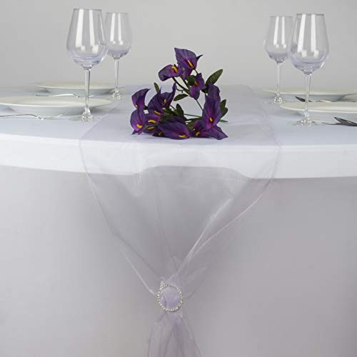 - Mikash 14 x 108 Organza Table Top Runners Wedding Party Dinner Reception Decorations | Model WDDNGDCRTN - 2243 | 36 pcs
