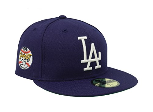 New Era Men's Hat Los Angeles Dodgers Sandlot 25th Anniversary 59Fifty Fitted Blue Cap (7 (25th Anniversary Cap)
