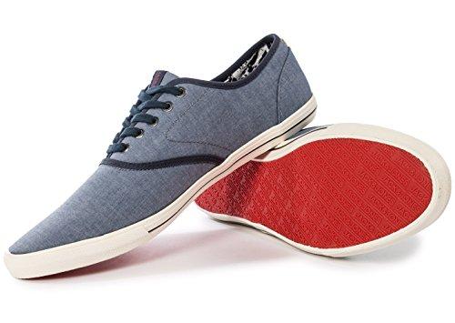 Jack Chambray Sneakers Sneaker Bleu Basses JJSPIDER amp; Jones Homme FHqwn4FrZ