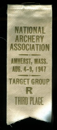 National Archery Association Amherst MA 2rd Place Ribbon Target Group R - Target Ma