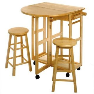 Winsome Wood 3-piece Space Saver Expandable Drop Leaf Table (Height Space Saver)