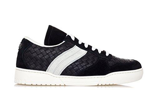 Bottega Veneta Men Sko Sneakers Fra Intrecciato Læder 'heeze' Sort 9IBS1onFo