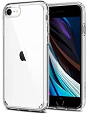 SPIGEN [Ultra Hybrid] iPhone SE 2020 Case/iPhone 8 Case/iPhone 7 Case with Hard PC Back Panel and Shockproof Bumper Compatible with iPhone SE 2020 (4.7-inch) / iPhone 8 / iPhone 7 - Crystal Clear