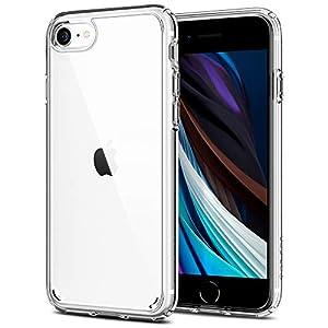 Spigen Ultra Hybrid Coque Compatible avec iPhone Se 2020 Compatible avec iPhone 7 et 8 – Transparent