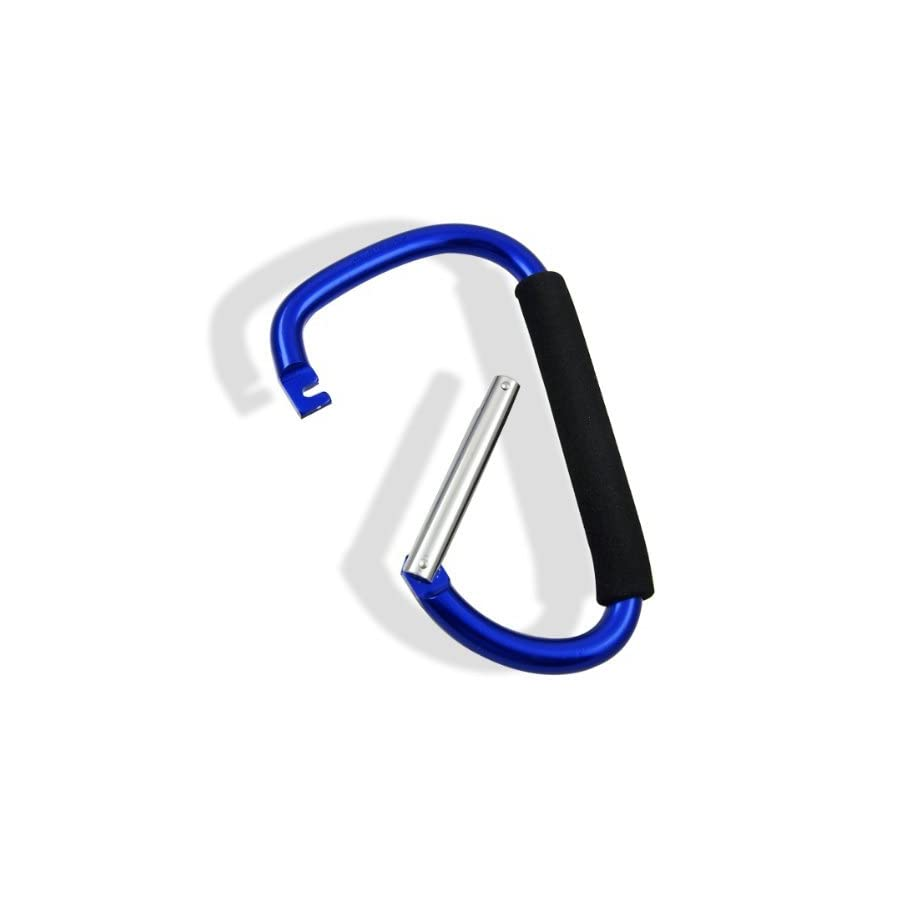 JR Jumbo Aluminum Carabiner Snap Hook with Soft Grip