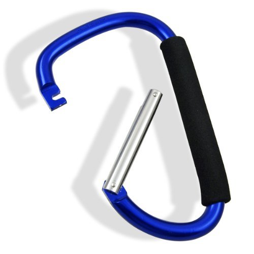 "Jumbo 7.75"" Aluminum Carabiner Snap Hook with Soft Grip"