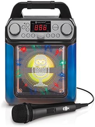 Singing Machine SML650 Bluetooth Karaoke-Maschine mit Stimmenwechsler und LED-Leuchten, schwarz
