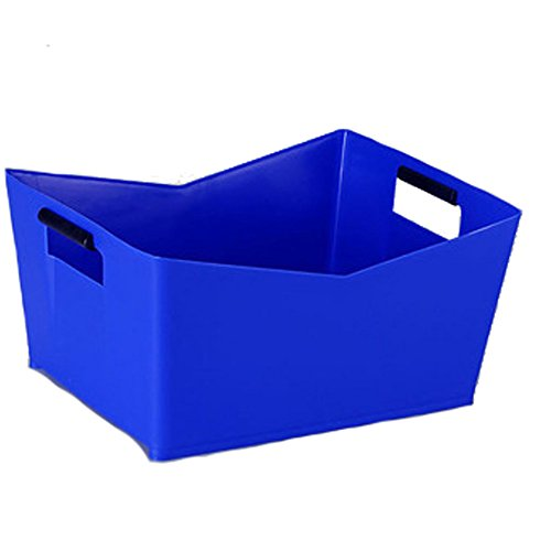 SparrK PC Thicken Square V-shaped Beer Box Plastic Beer barrel Beer Box Ice Bucket Bar KTV Nightclub Wine Box (V-shaped, blue) by SparrK