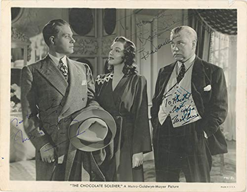 (The Chocolate Soldier Movie Cast - Inscribed Printed Photograph Signed In Ink with co-signers)