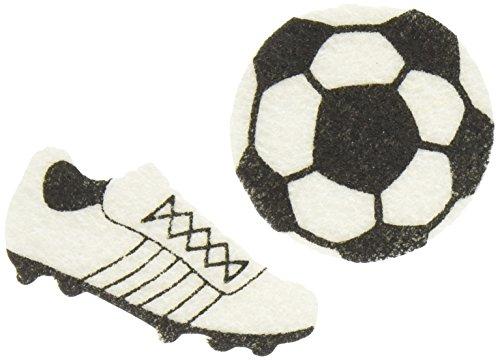 Darice FLT-1018 Darice, 44 Piece, Felties Felt Stickers, Soccer Theme,,