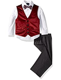 Conjunto de chaleco de 4 piezas Nautica para niños con camisa de vestir, pajarita, chaleco y pantalones