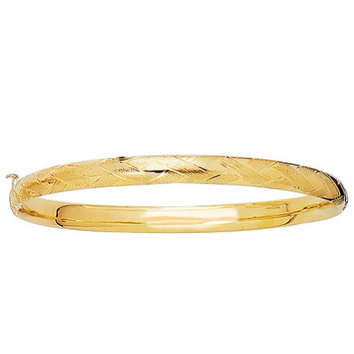 14K Real Yellow Gold Children Baby Kids Bangle Bracelet 5.5 Inches by Ritastephens