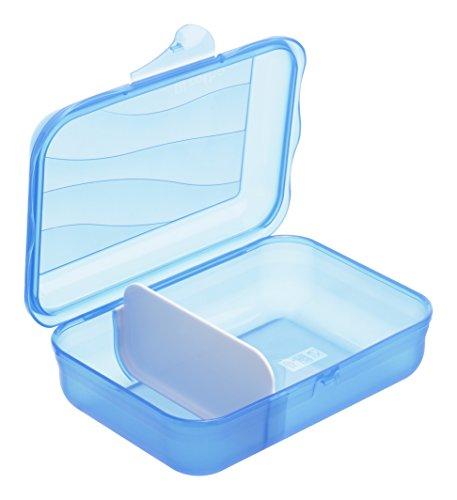 Vesperdose von Rotho - mit herausnehmbarer Trennwand - Grösse S - 0.9 L Inhalt - (LxBxH) 17.7x12.9x6 cm - blau - Kunststoff/Plastik (PP) - BPA-frei - hergestellt in der Schweiz