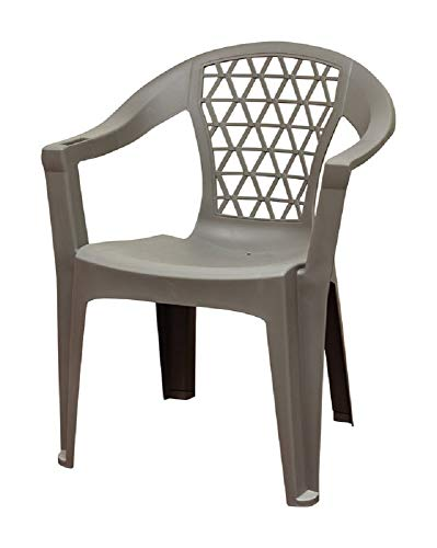 Adams 8220-13-3900 Penza Stackable Chair, Polypropylene, Grey by Adams (Image #1)