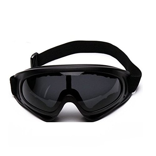 Minalo UV Protection Outdoor Sports Ski Glasses CS Army Tactical Military Goggles Windproof Snowmobile Bicycle Motorcycle Protective Glasses Ski Goggles