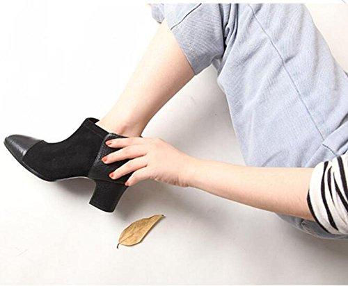 Jugend 90160CM Stiefel Wildleder inspirierte Wintermode Leder Kurze wdjjjnnnv Damen Nähte Stiefel Schuhe wqdfg7B7