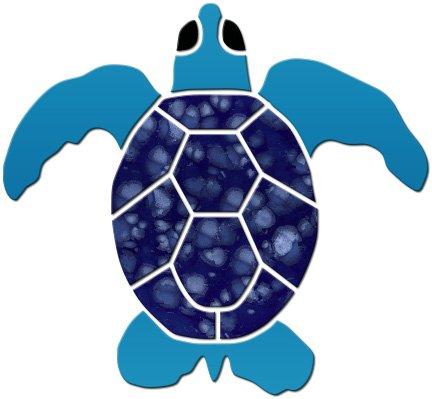 - Small Turtle Ceramic Swimming Pool Mosaic (4