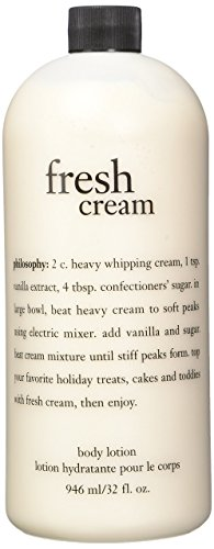 Philosophy Fresh Cream Body Lotion 32 Oz with Pump Fresh Lotion