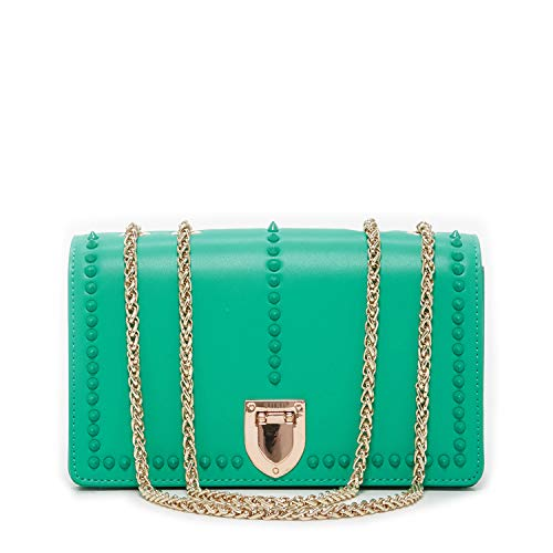 SUSU Josie Leather Crossbody Bag With Studs
