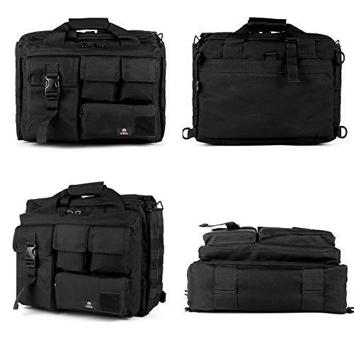 GES Multifonctions Tactique en Nylon d'épaule pour Ordinateur Portable Messenger Bag Porte-Documents Sacs à Main pour 15… 4