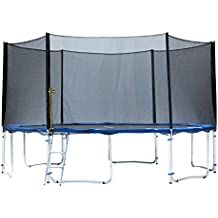 Exacme TUV Approved Trampoline with Safety Pad & Enclosure Net & Ladder All-in-One Combo Set