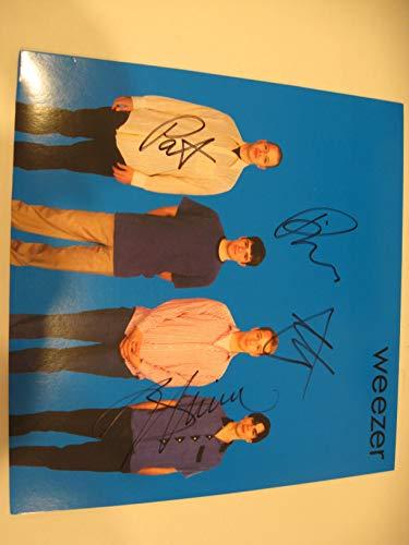 Weezer Rivers, Brian,Pat, Matt Autographed Signed Blue Vinyl LP Record COA (Weezer Signed)