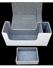 Docsmagic.de Premium Magnetic Tray Long Box White Small - Card Deck Storage