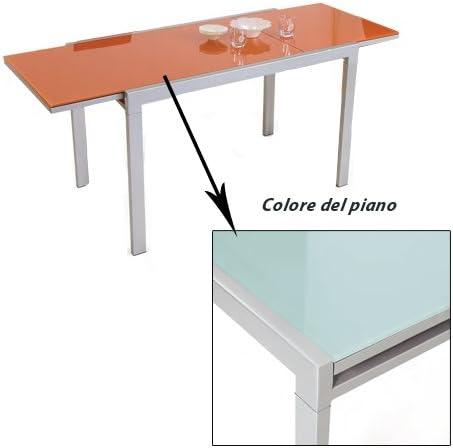 Tavolo Rettangolare Allungabile Bianco Soggiorno Sala 70x120 Amazon It Casa E Cucina