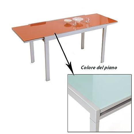 Tavolo 70 X 120 Allungabile.Tavolo Rettangolare Allungabile Bianco Soggiorno Sala 70x120 Amazon