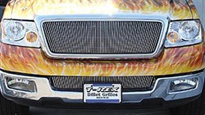 Vertical Overlay - TRex Grilles 31553 Vertical Aluminum Polished Finish Billet Grille Overlay for Ford F150