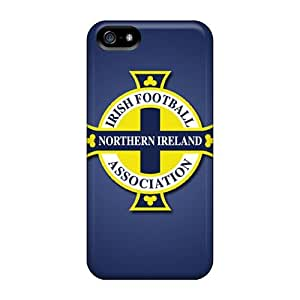 Excellent Hard Phone Case For Iphone 5/5s (BPQ20206rzUk) Support Personal Customs High-definition Northern Ireland Football Logo Pattern