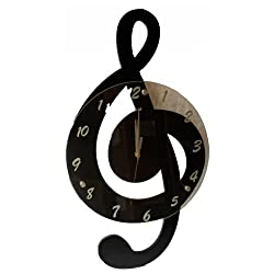 Creative Motion Clef Music Clock